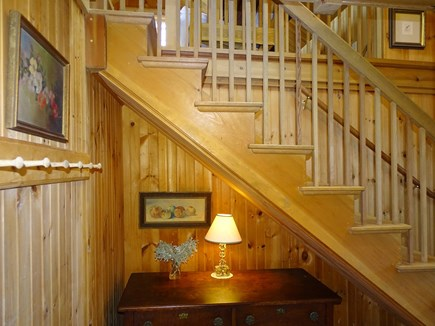 Sagamore Beach Cape Cod vacation rental - Lovely woodwork throughout, stairs leading to upper living area