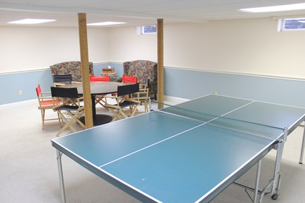 Harwich Cape Cod vacation rental - Lower level area with ping pong and game table