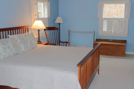 Harwich Cape Cod vacation rental - First floor bedroom with lots of space, king bed and TV