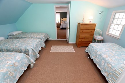 East Brewster Cape Cod vacation rental - Bunk room with four single beds