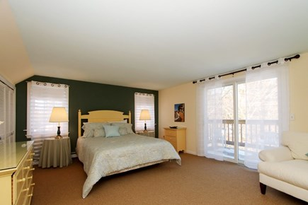 East Brewster Cape Cod vacation rental - Master w/full bath and Juliet deck overlooking back yard