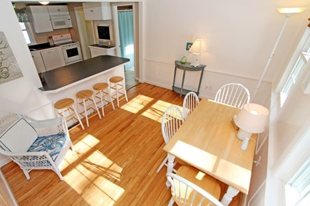 East Brewster Cape Cod vacation rental - Eat in kitchen area with breakfast bar.