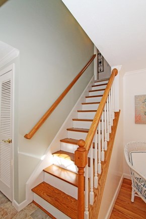 East Brewster Cape Cod vacation rental - Stairway to 2nd floor master suite and 2 extra bedrooms and bath