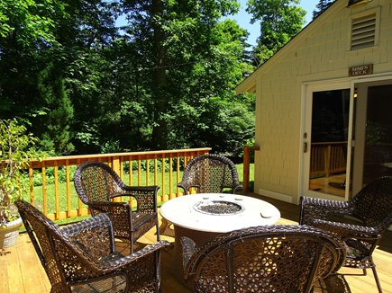 Orleans Cape Cod vacation rental - Deck with fire pit