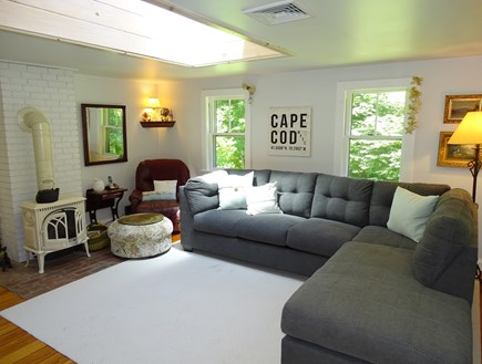 Orleans Cape Cod vacation rental - Comfortable living room with skylight