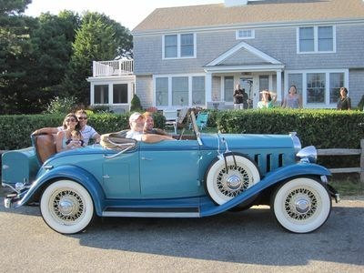 Hyannis Cape Cod vacation rental - Friend's 32 Buick...... going for a ride.. lovin' life :-)