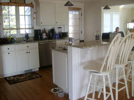Hyannis Cape Cod vacation rental - Breakfast island......bacon is in the oven we don't fry to messy
