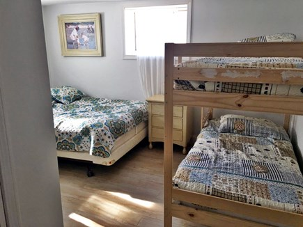 East Dennis Cape Cod vacation rental - Basement Bedroom with queen and bunkbed