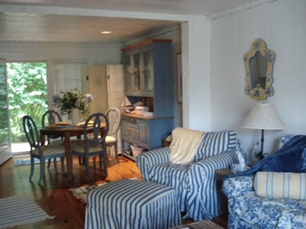 New Seabury, Mashpee New Seabury vacation rental - Living Room/ Dining Room area set in nautical blue color scheme