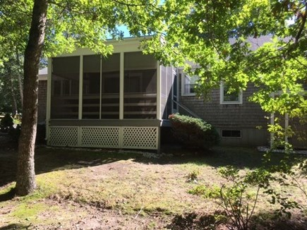 Brewster Cape Cod vacation rental - Great screened in porch facing the back yard