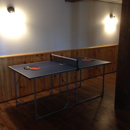 Harwich Cape Cod vacation rental - Ping Pong table on lower level.