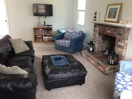 Harwich Cape Cod vacation rental - Flat screen TV in family room with plenty of seating.