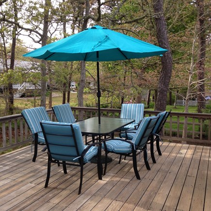 Harwich Cape Cod vacation rental - Outdoor deck with plenty of seating, gas grill and outdoor shower