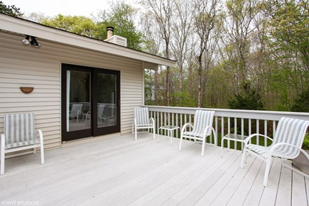 North Falmouth Cape Cod vacation rental - Private backyard deck