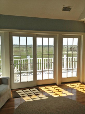 Dennis Cape Cod vacation rental - Sit inside with morning coffee to see natural salt marsh out back