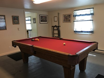 Hyannis Cape Cod vacation rental - Game Room with Full Size Slate Pool Table