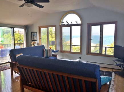Eastham Cape Cod vacation rental - Family Room with sweeping views of the Bay.
