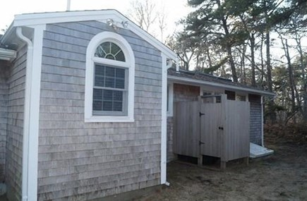 Chatham, Cockle Cove area Cape Cod vacation rental - Large outdoor shower