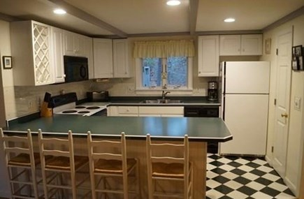 Chatham, Cockle Cove area Cape Cod vacation rental - Updated kitchen with breakfast bar