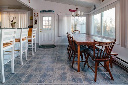 Dennis Cape Cod vacation rental - Dining area overlooks the ocean views