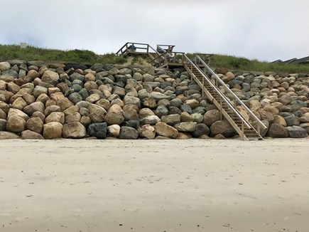 Dennis Cape Cod vacation rental - Stairs to beach