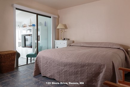 Dennis Cape Cod vacation rental - King bedroom includes cable TV, drawers, desk, closet