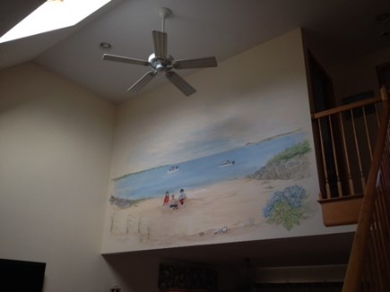 West Yarmouth Cape Cod vacation rental - Ceiling Fan and Mural