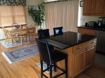 West Yarmouth Cape Cod vacation rental - Kitchen Island and Dining Area