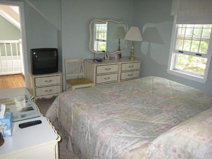 Dennis Village Cape Cod vacation rental - Second floor queen bedroom with door to loft area