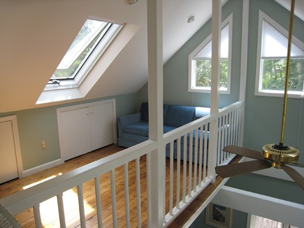 Dennis Village Cape Cod vacation rental - 2nd floor loft area open to living room below