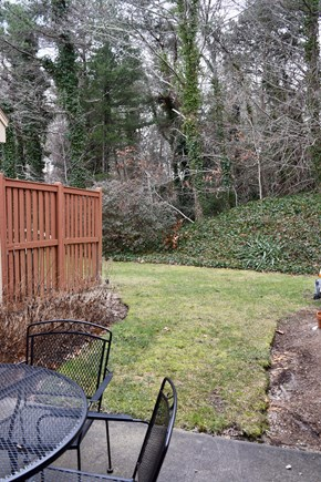 Brewster Cape Cod vacation rental - Secluded patio includes comfortable seating and a gas grill.