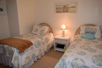 Brewster Cape Cod vacation rental - 2nd bedroom.  2 twin beds, central air, cable tv.
