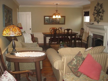 Harwichport Cape Cod vacation rental - Living room to Dining room