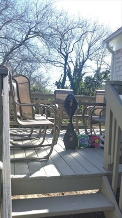 Yarmouthport Cape Cod vacation rental - Back deck