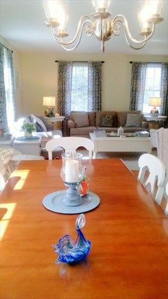 Yarmouthport Cape Cod vacation rental - Dining to living area