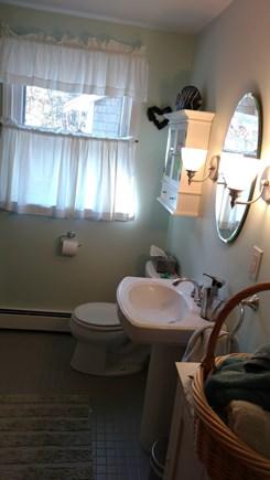Wellfleet Cape Cod vacation rental - Family bathroom which has a full size bathtub