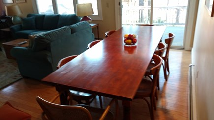 Wellfleet Cape Cod vacation rental - Farm table and sliders to the deck