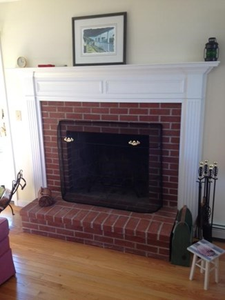 Chatham Cape Cod vacation rental - Fireplace in case you weren't sure