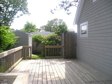 Falmouth, Teaticket  Cape Cod vacation rental - Back Deck w/outside shower