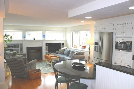 Eastham Cape Cod vacation rental - Look from Kitchen toward casual living area