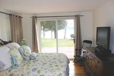 Eastham Cape Cod vacation rental - First floor suite with queen, TV, full bathroom and WATER VIEWS!