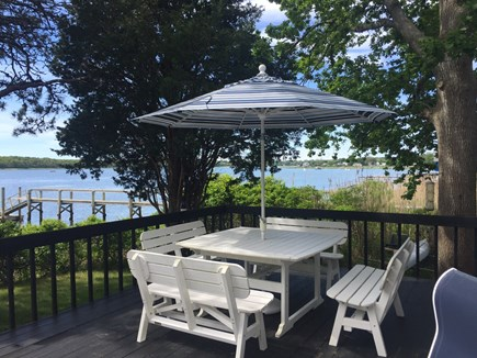 Eastham Cape Cod vacation rental - View of part of large Deck with great water views