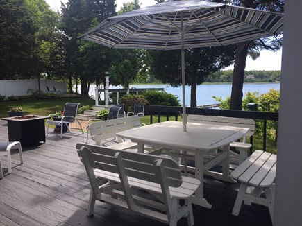 Eastham Cape Cod vacation rental - A view of Deck with the dock beyond