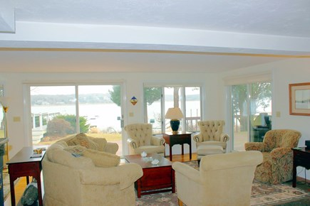 Eastham Cape Cod vacation rental - Main Living Area with gorgeous water views out over deck