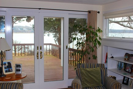 Eastham Cape Cod vacation rental - Secondary living area view out to deck / porch area with views