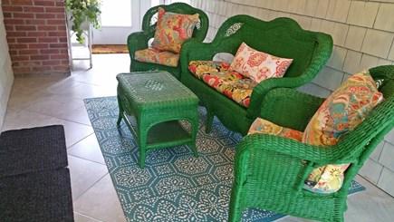 Hyannisport Cape Cod vacation rental - Breezeway Porch w/ Ceiling Fan