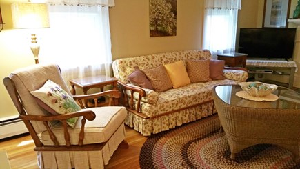Hyannisport Cape Cod vacation rental - Couch opens to FullI