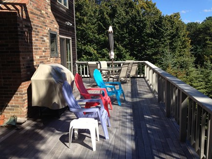 Brewster Cape Cod vacation rental - Outside deck