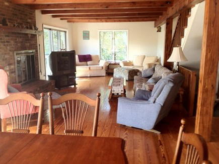 Brewster Cape Cod vacation rental - First floor living area, and dining room
