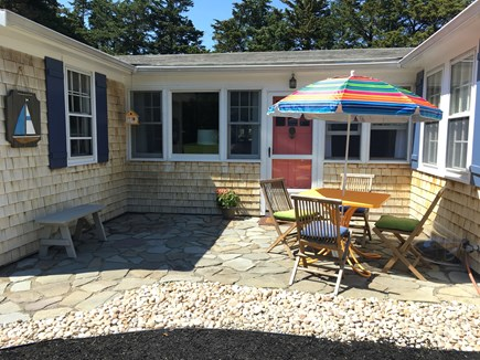 East Orleans Cape Cod vacation rental - Patio in front of house perfect for your morning coffee.